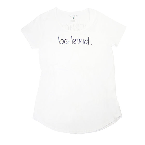 """Be Kind"" Tee White/Grey"