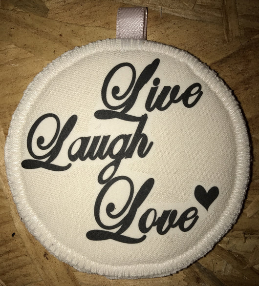 Key-chain Nursing Pad Live, Laugh, Love