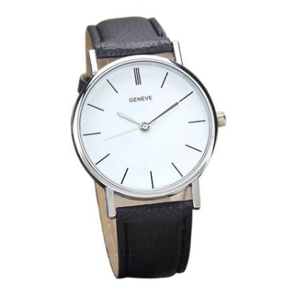 Clara watch with a black strap