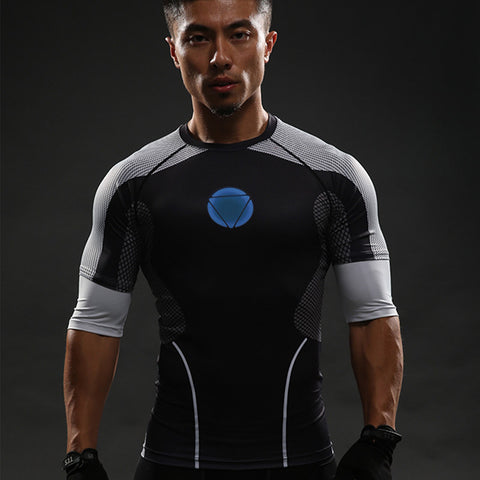 Iron Man Civil War 3/4 Length Compression Shirt