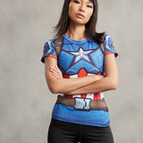 Captain America Women's Compression Shirt