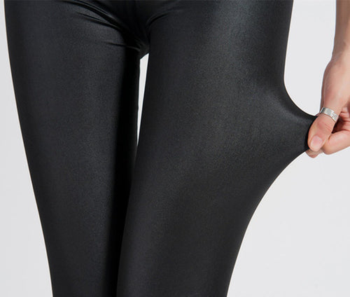 Leather Leggings Legging Women Full Length Leggings Fitness Knitted Black Long Pants Legging Womens Plus Size Fashions