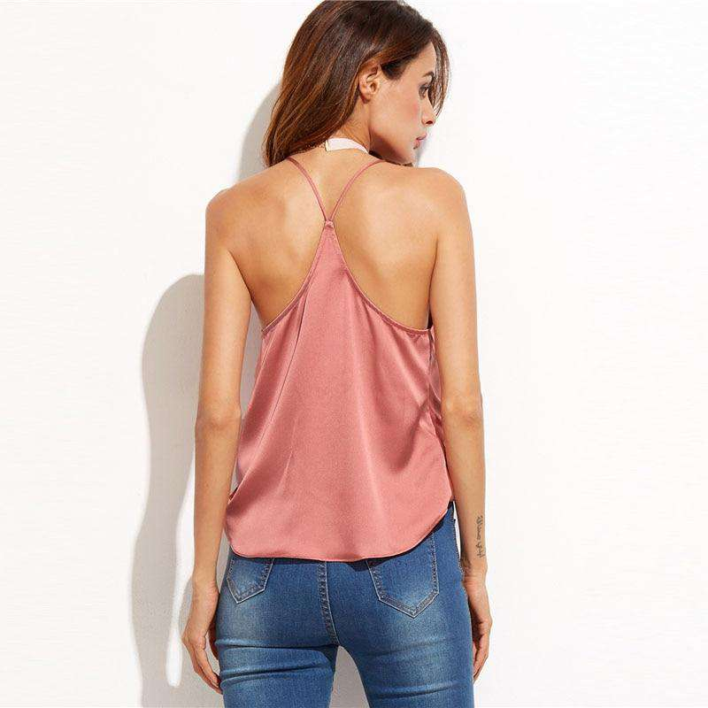 Satin Wrap Cami