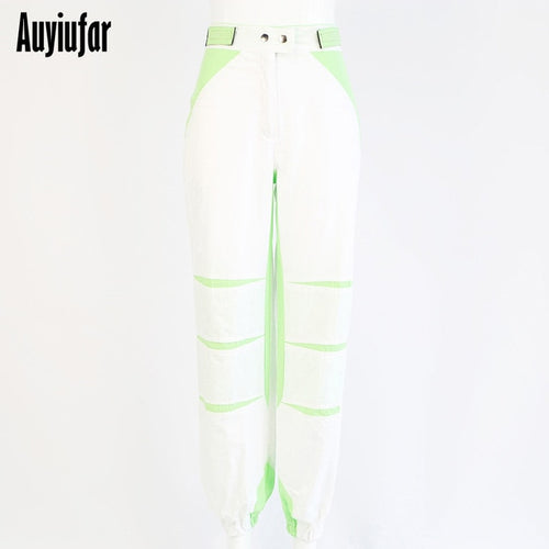 Auyiufar White Streetwear Cargo Pants Wide Leg Female Joggers Women's High Waist Pants Black Loose Trousers 2019 Plus Size Pants