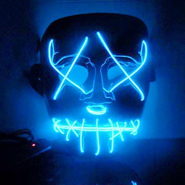 Novelty & Special Use Boys Costume Accessories The Cheapest Price Dropshipping El Wire Mask Light Up Neon Skull Led Mask For Halloween Party Theme Cosplay Masks