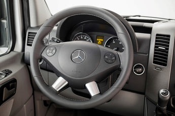 Sprinter leather wrapped steering wheel