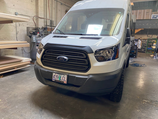 Ford Transit Aero hood spoiler - Imperfect