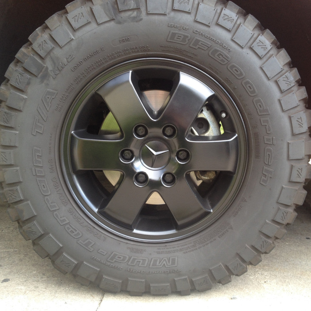 Sprinter Black powder coated alloy wheels – Terrawagen