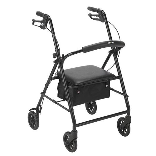 Aluminum Rollator 6 inch w/4 Wheels, padded seat, choice of color