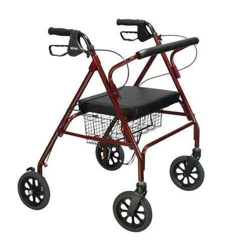 Drive Medical Go-Lite Bariatric Steel Rollator with 500lb Weight Capicity