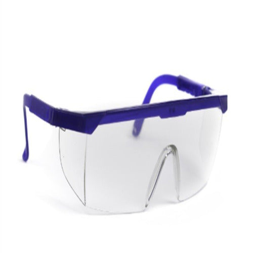 Protective Glasses Side Shield Clear Tint Blue / Clear Frame Over Ear One Size Fits Most