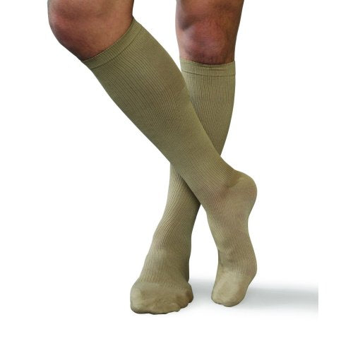 Men's Tan Compression Support Large Socks (fits shoe size 10.5-12) 20-30 mmHg