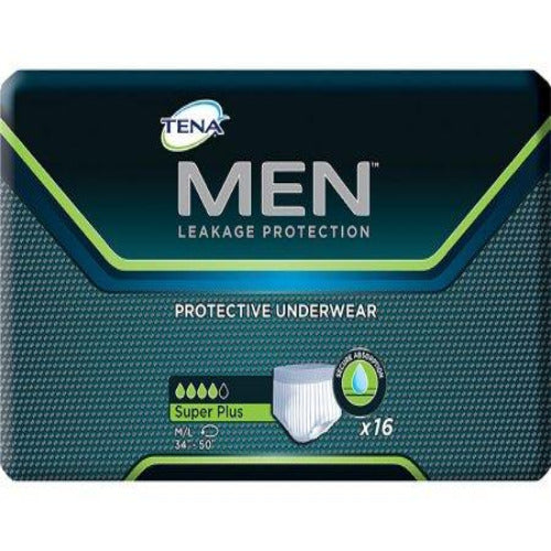 Tena Men'sAbsorbent Underwear Men Super Plus Pull On with Tear Away Seams Heavy Absorbency