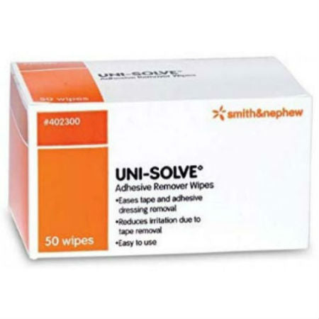 Smith & Nephew Uni-Solve Adhesive Remover Wipes 50 pads per box