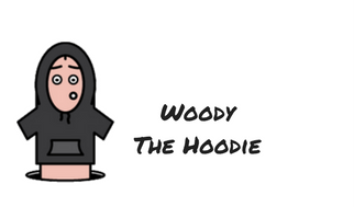 Woody the Hoodie Comic Character Description