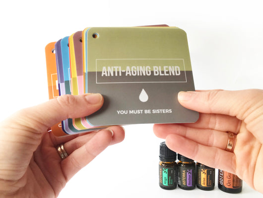 Essential Oil Flashcards Inspired by doTERRA Blends (RING INCLUDED)