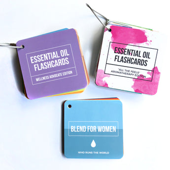 Essential Oil Flashcards Pack - doTERRA Inspired Single & Blends + Aromatherapy