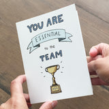 "Essential Oil Greeting Card ""You Are Essential to the Team"""