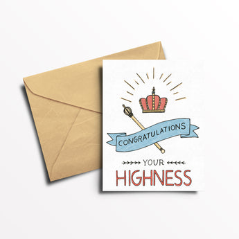 EO Rank Greeting Card - Your Highness