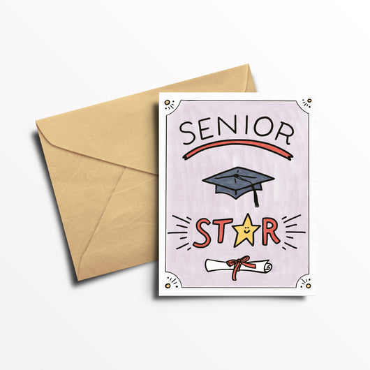 EO Rank Greeting Card - Senior Star