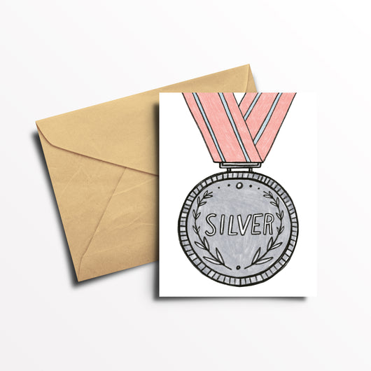 EO Rank Greeting Card - Silver