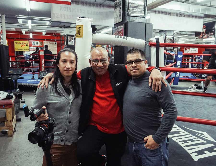 hector roca with ph daniel sanchez and marcelo rodriguez at gleasons gym