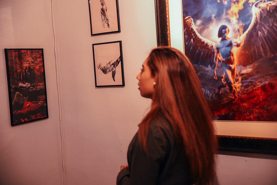 guest at thesanch3z art exhibition in New Rochelle Ny