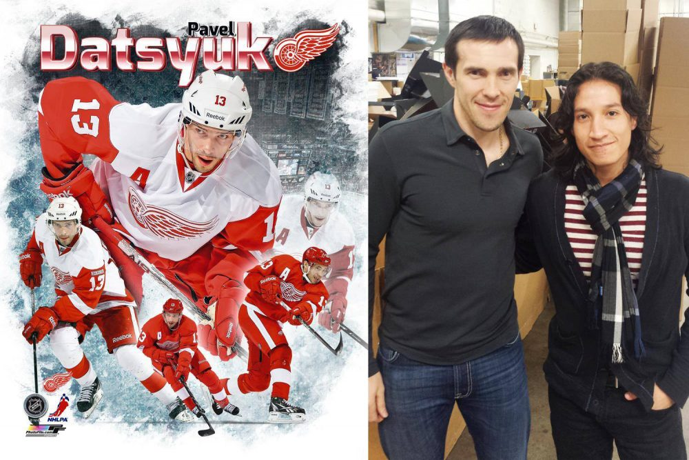 pavel datsyuk red wings and ph daniel sanchez
