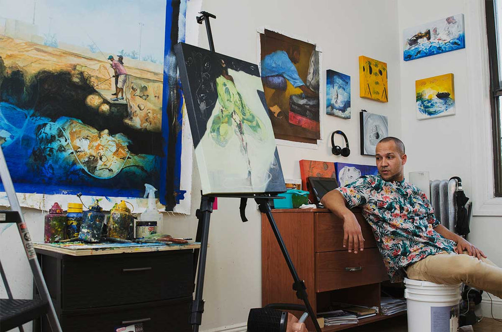 ed vasquez at his studio