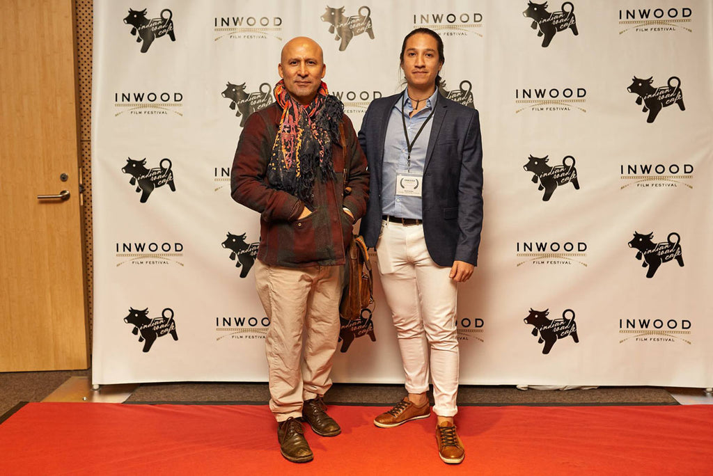 ph daniel sanchez and pablo caviedes on the map at inwood film festival