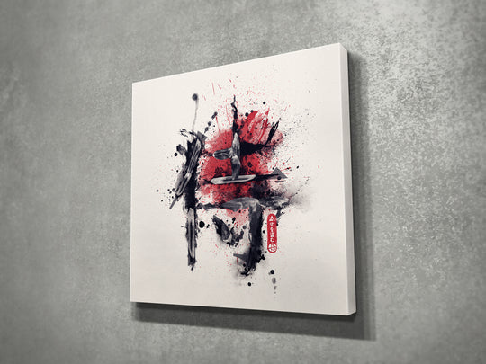 侍 Samurai Kanji Canvas Print Wall Art (Limited Edition 1 of 6)