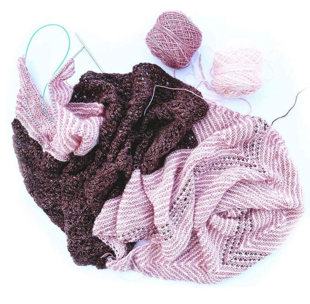 Ambah O'Brien Celina Shawl yarn kit
