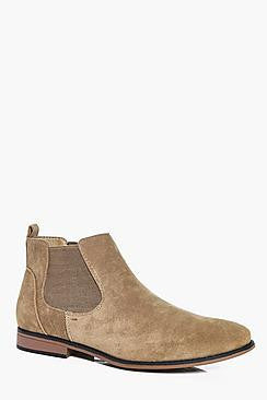 Men's Faux Suede Chelsea Boots - e Deals and Offers