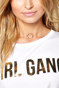 Hexagon Skinny Choker - e Deals and Offers