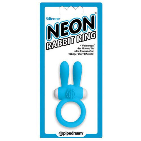 Neon Luv Touch Rabbit Ring - Blue