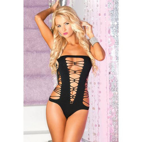 5a9a3e6981 Cut Out Teddy w Dazzling Straps   Contrasting Lace Black Yellow O S. G  World. Regular price  29.95 · Pink Lipstick Juicebox Seamless Bodysuit Black  O S