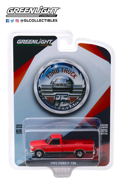1:64 Anniversary Collection Series 10 - 1992 Ford F-150 - 75th Anniversary of Ford Trucks