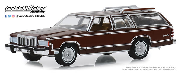 Greenlight 1:64 Estate Wagons Series 4 : 1980 Mercury Grand Marquis Colony Park - Dark Chamois Metallic with Woodgrain