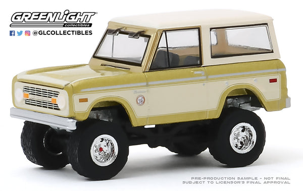 Greenlight Hobby Exclusive 	 1:64 1976 Ford Bronco - Colorado Gold Rush Bicentennial Special Edition