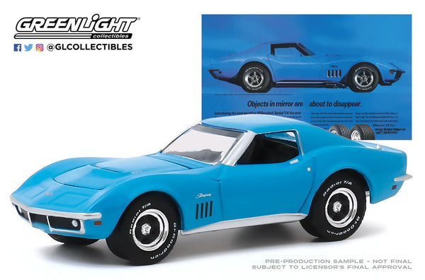 Greenlight 1:64 BFGoodrich Vintage Ad Cars - 1969 Chevrolet Corvette