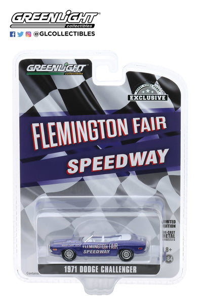 Greenlight 1:64 1971 Dodge Challenger Convertible Flemington Fair Speedway Official Pace Car