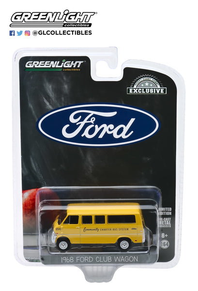 Greenlight 1:64 1968 Ford Club Wagon School Bus