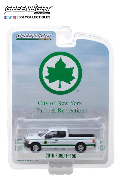 Greenlight 1:64 Blue Collar Collection Series 4 - 2016 Ford F-150 New York City Department of Parks & Recreation