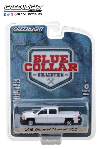 Greenlight 1:64 Blue Collar Collection Series 4 - 2018 Chevrolet Silverado W/T