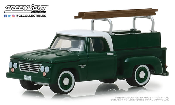 Greenlight 1:64 Blue Collar Collection Series 5 : 1963 Dodge D-100 with Ladder Rack