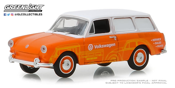 Greenlight 1:64 Blue Collar Collection Series 5 : 1966 Volkswagen Type 3 Panel Van - Volkswagen Sales and Service