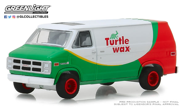 Greenlight 1:64 Blue Collar Collection Series 5 : 1983 GMC Vandura - Turtle Wax
