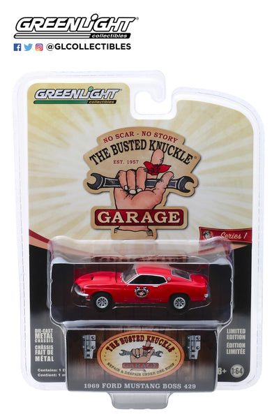 "Greenlight 1:64 Busted Knuckle Garage Series 1 : 1969 Ford Mustang Boss 429 ""Stock Car Racing, Sponsored by Busted Knuckle Garage"""