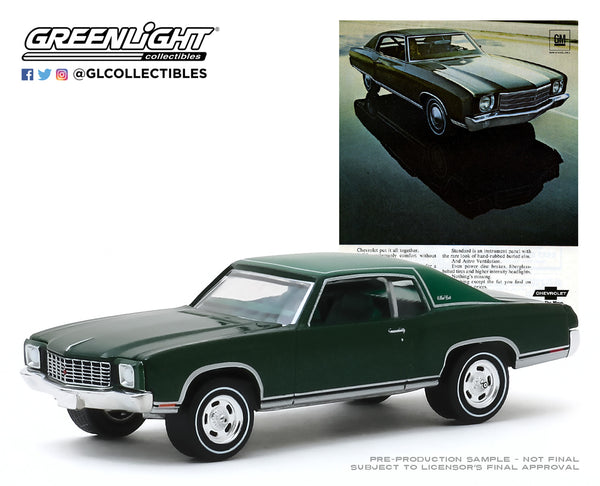 "1:64 Vintage Ad Cars Series 2 - 1970 Chevrolet Monte Carlo ""A Group Picture of all the Cars in Monte Carlo's Field"""