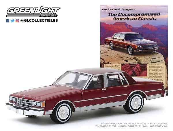 "1:64 Vintage Ad Cars Series 2 - 1986 Chevrolet Caprice Brougham ""The Uncompromised American Classic"""